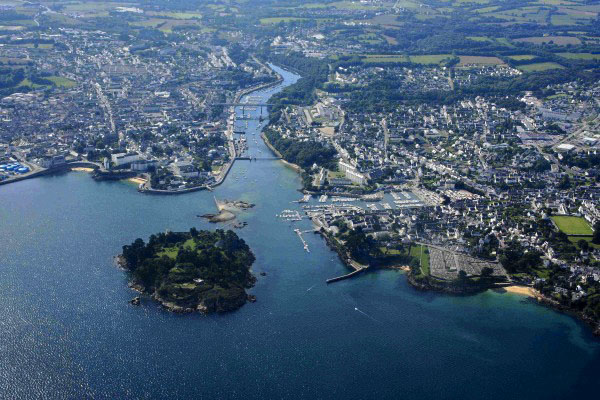 aerial view around Camping Douarnenez